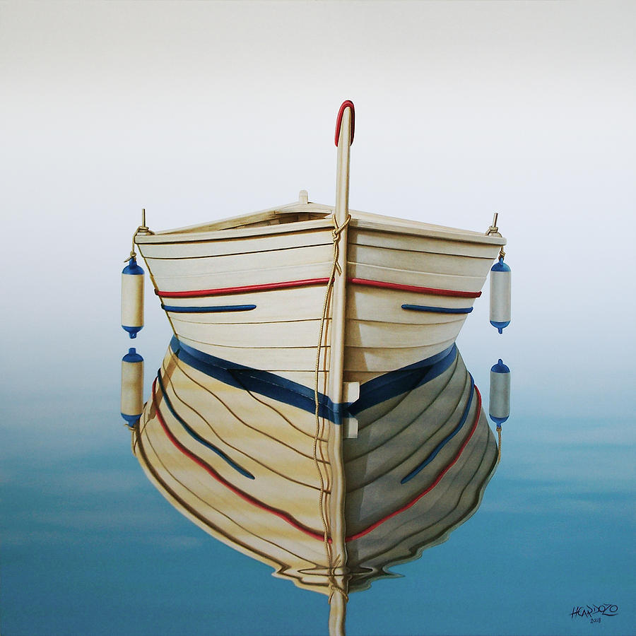 Fishing Painting - Morning Sun On Prow by Horacio Cardozo