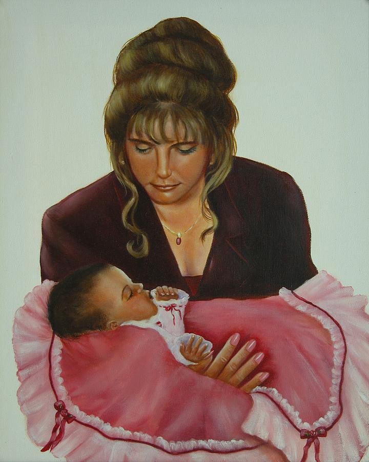 Portrait Painting - Mother And Child by Joni McPherson