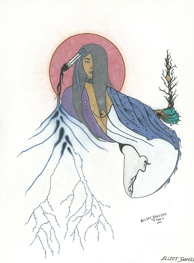mother earth drawing by elliot janvier