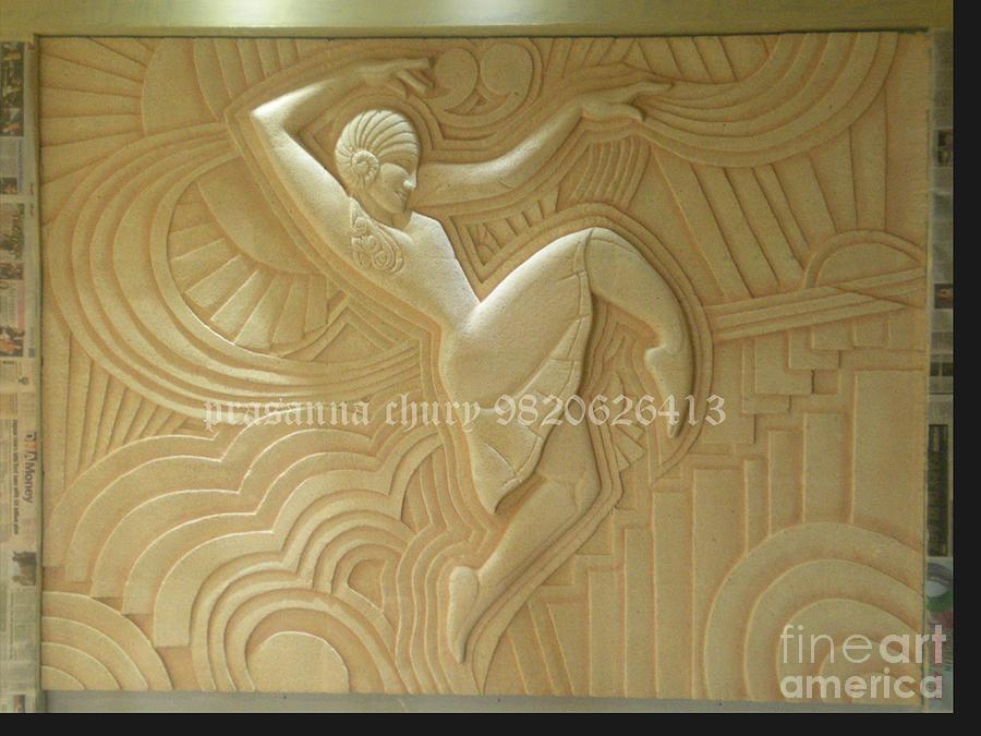Figurative Wall Sculpture Relief - Mural by Prasanna Chury