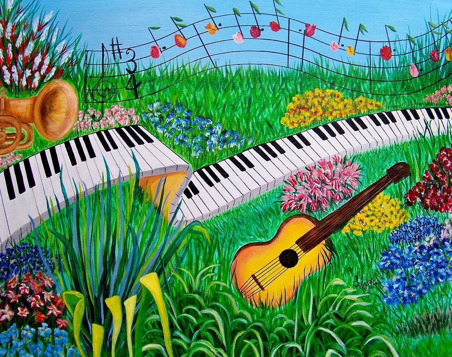 Musical Garden Painting