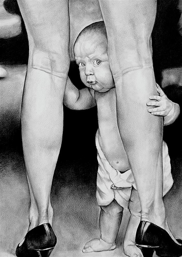 Babies Drawing - My Mommy by Curtis James