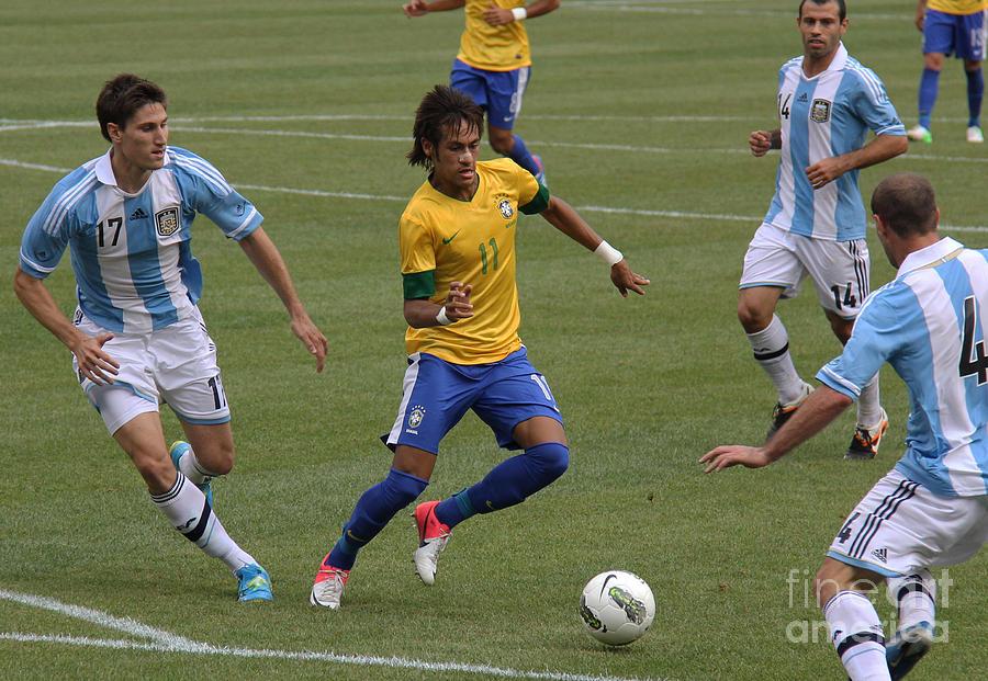 Neymar Doing His Thing II Photograph