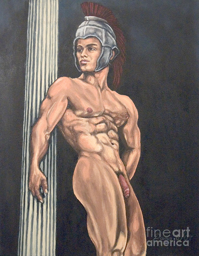 Roman Mythology Painting - Nude Male Roman by The Artist Dana