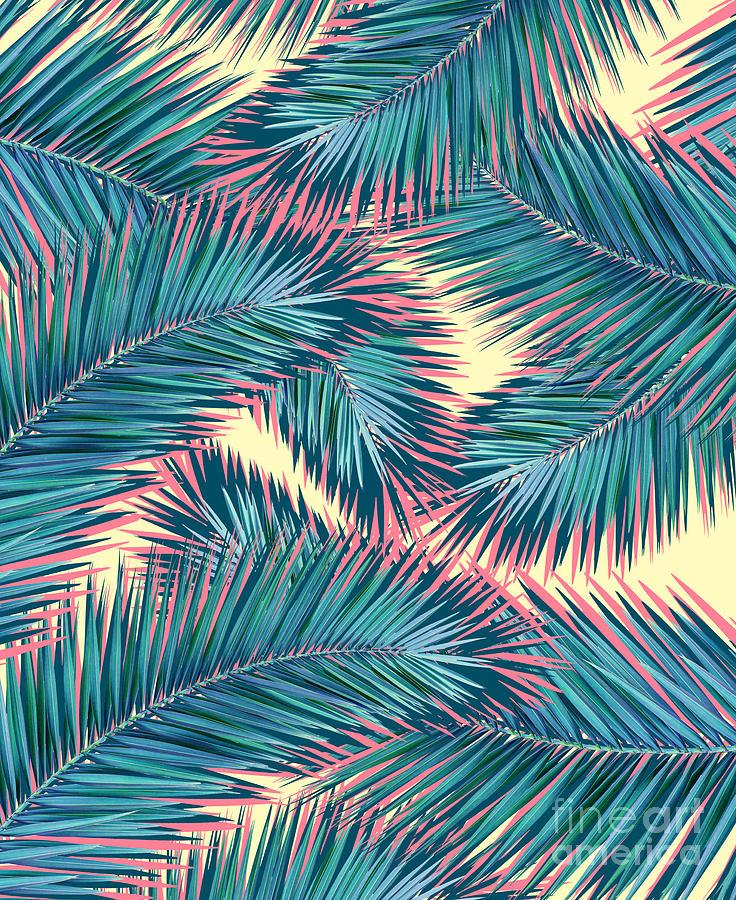 Summer Digital Art - Palm Trees  by Mark Ashkenazi