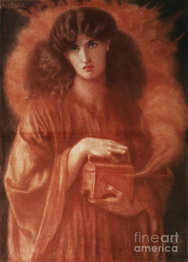 Pandora Painting - Pandora by Dante Charles Gabriel Rossetti