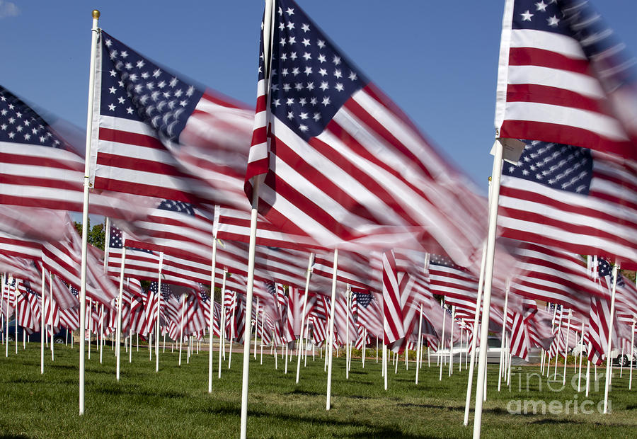Patriotic American Flag Display is a photograph by Anthony Totah which ...