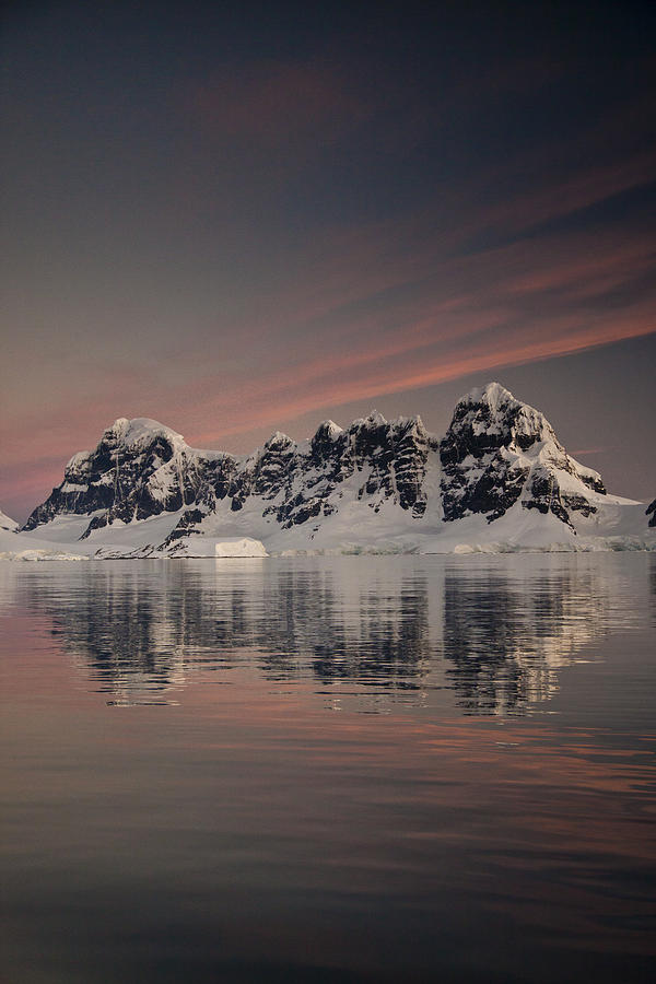 00479585 Photograph - Peaks At Sunset Wiencke Island by Colin Monteath
