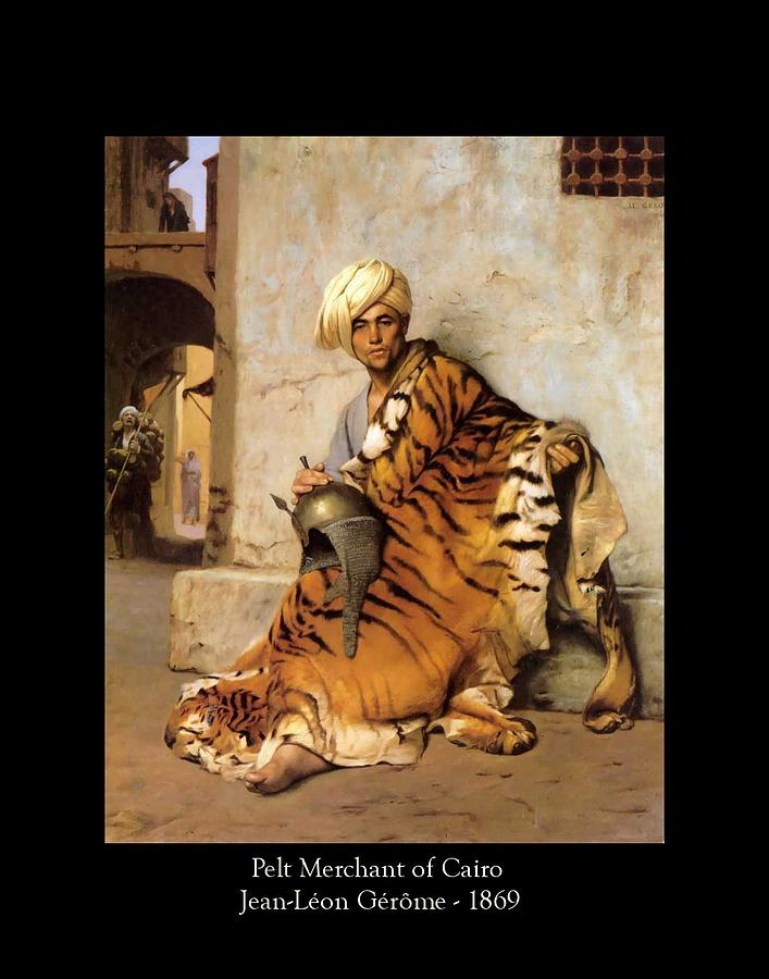 Jean-leon Gerome Painting - Pelt Merchant Of Cairo - 1869 by Jean-Leon Gerome