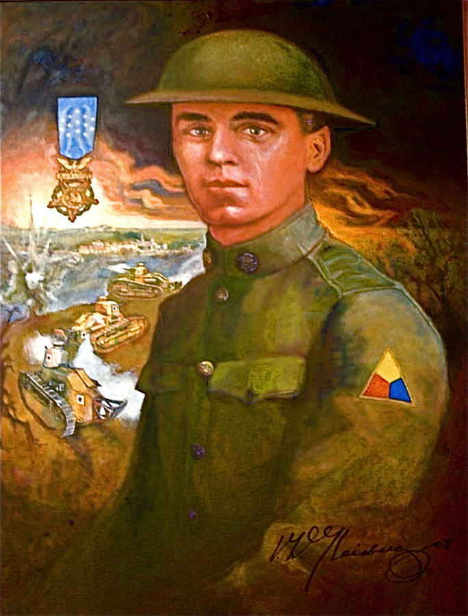 Portrait Of Corporal Harold W. Roberts Painting - Portrait Of Corporal Roberts by Dean Gleisberg