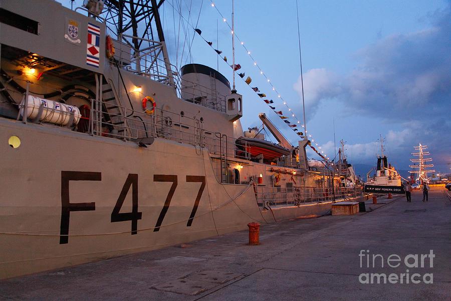 Frigates Photograph - Portuguese Navy Frigates by Gaspar Avila