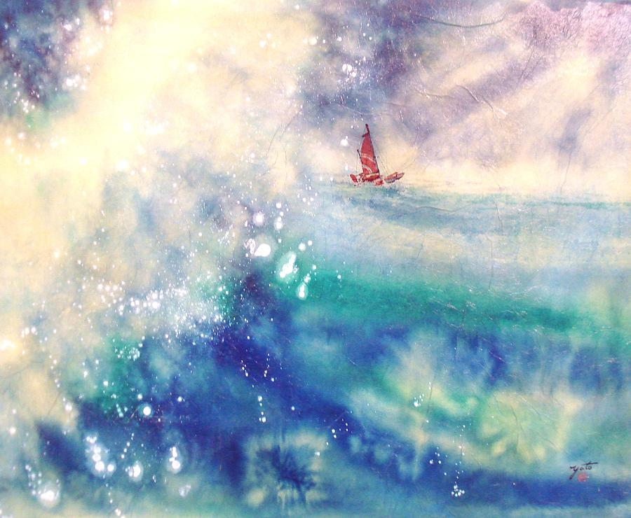 Best Waves Painting - Powerful Sailing by John YATO