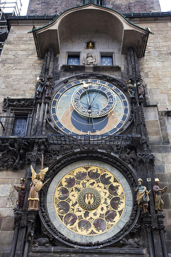 Architecture Photograph - Prague Astronomical Clock by Andre Goncalves