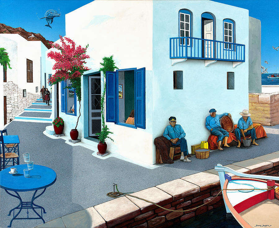 Mediterranean Painting - Premonition by Snake Jagger