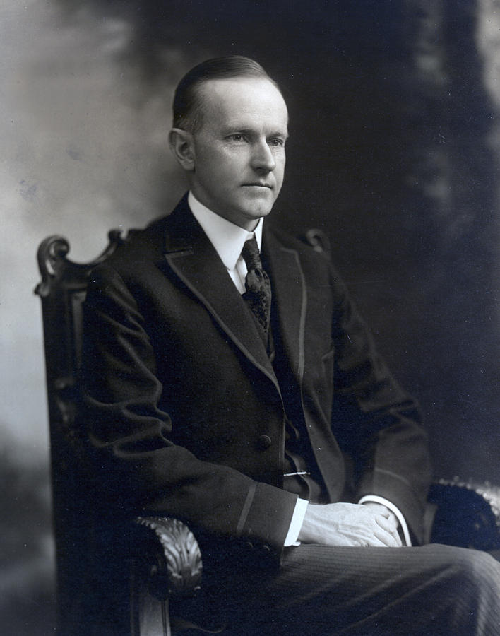president Calvin Coolidge  Photograph - President Calvin Coolidge by International  Images