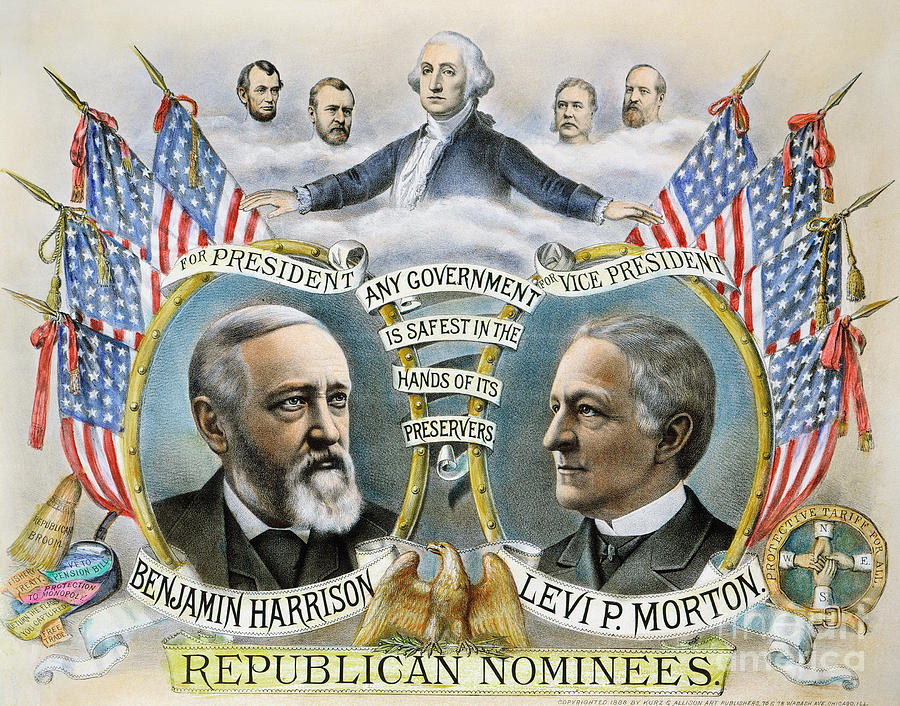 1888 Photograph - Presidential Campaign, 1888 by Granger