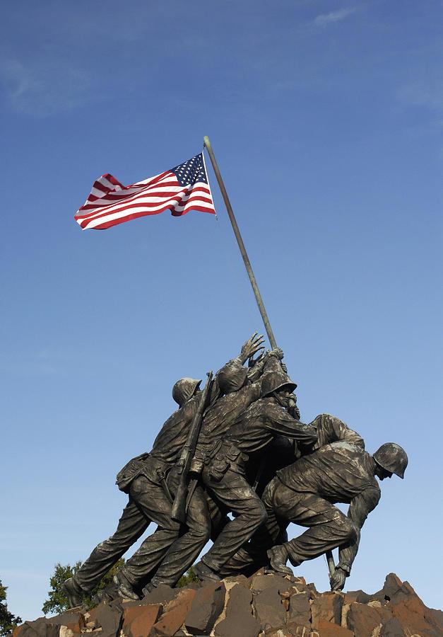 Raising The Flag On Iwo Photograph