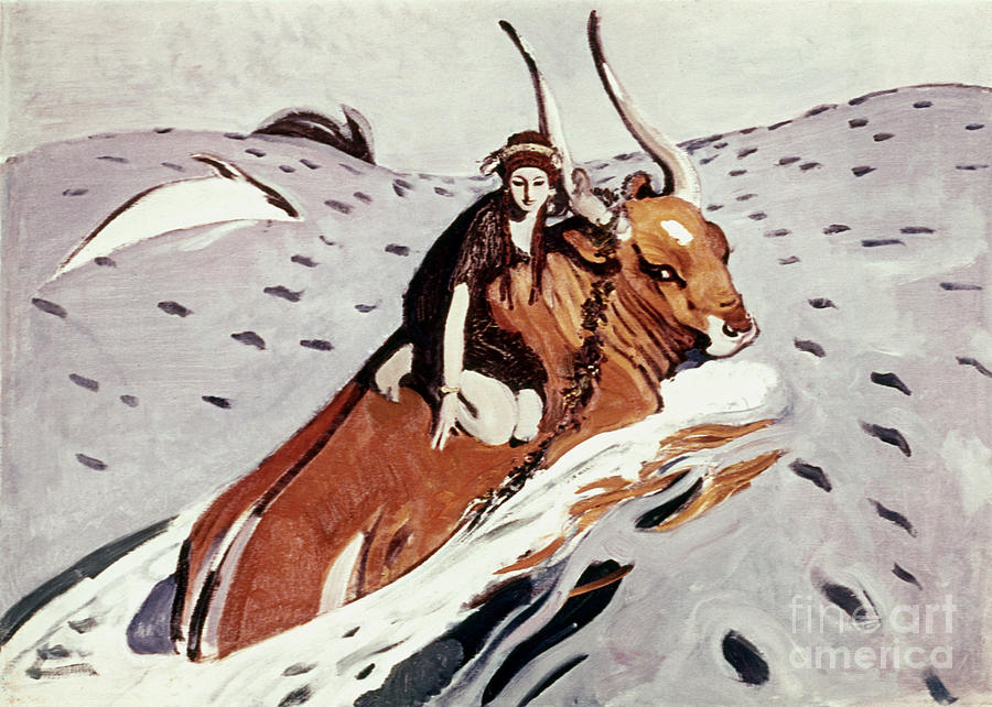 1910 Painting - Rape Of Europa by Granger