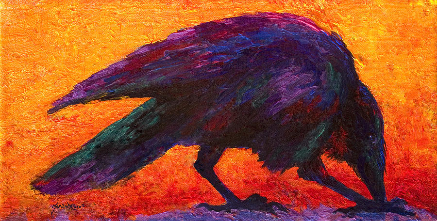 Raven Painting by Marion Rose