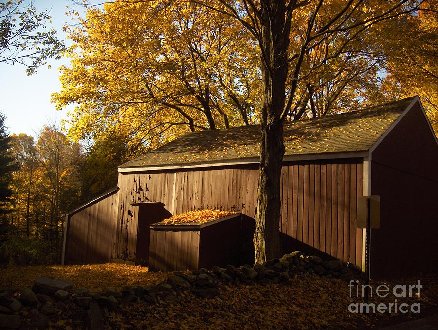 Barn Photograph - Red Barn At Dawn by Joshua Francia