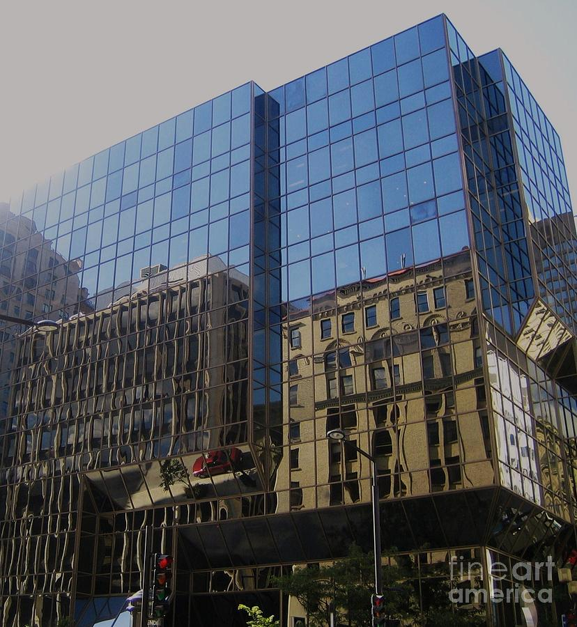 Reflections Of Montreal Photograph
