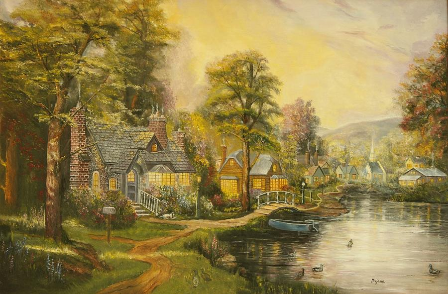 Reproduction businesses of thomas kinkades painting