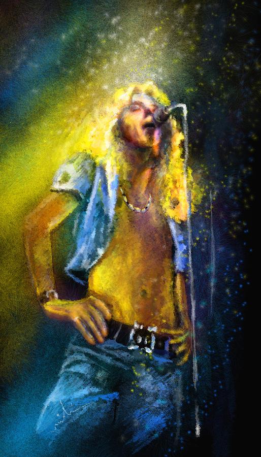Music Painting - Robert Plant 01 by Miki De Goodaboom