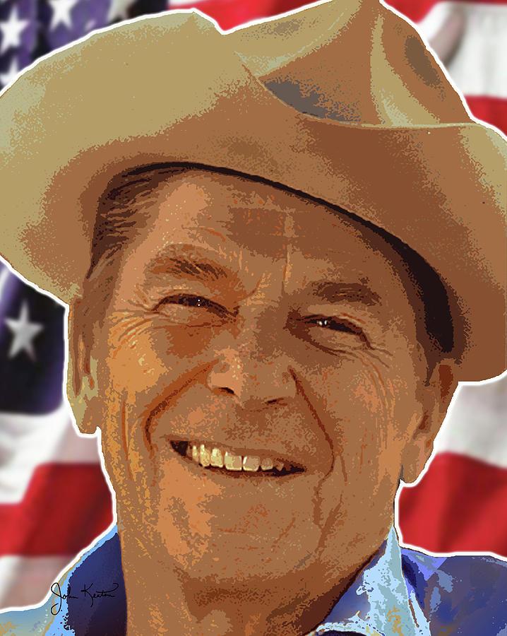 Reagan Digital Art - Ronald Reagan by John Keaton