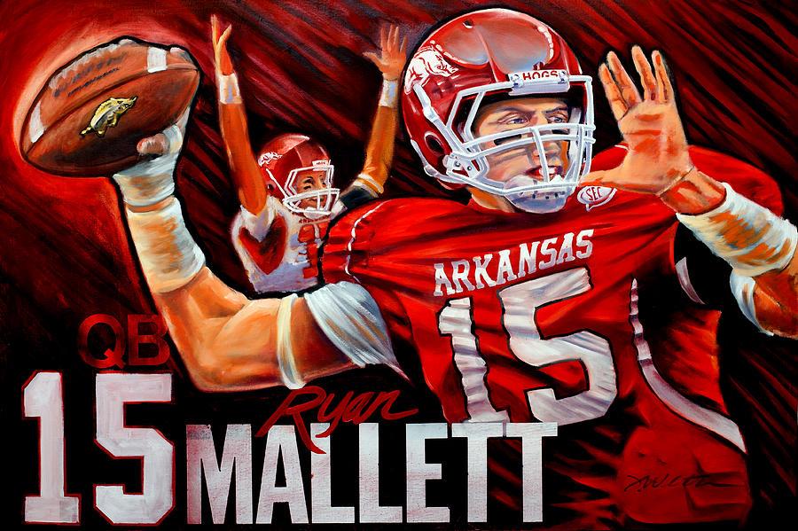 Sports Painting - Ryan Mallett by Jim Wetherington