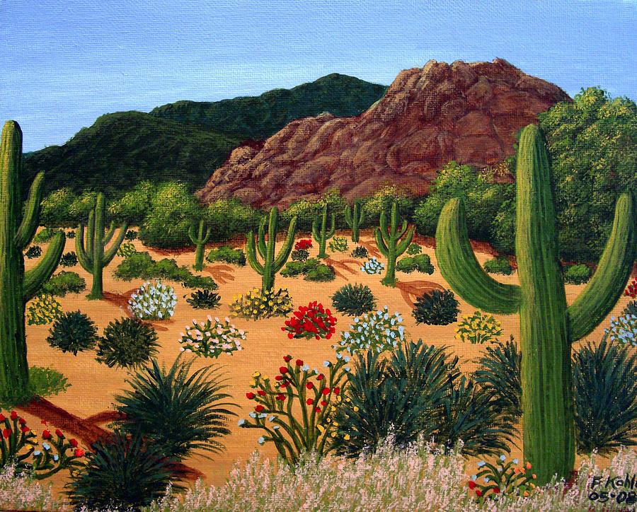 Saguaro Desert Painting By Frederic Kohli