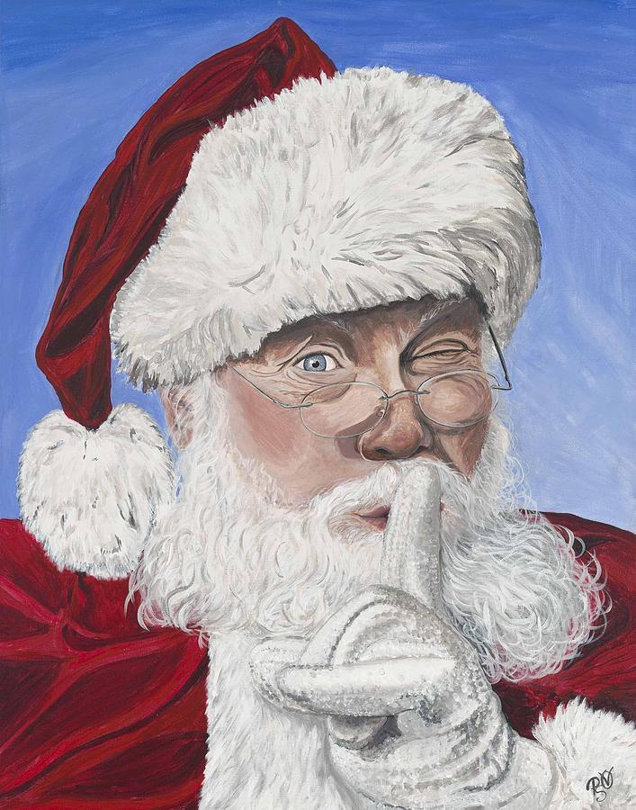 Santa Painting - Santa Claus by Patty Vicknair