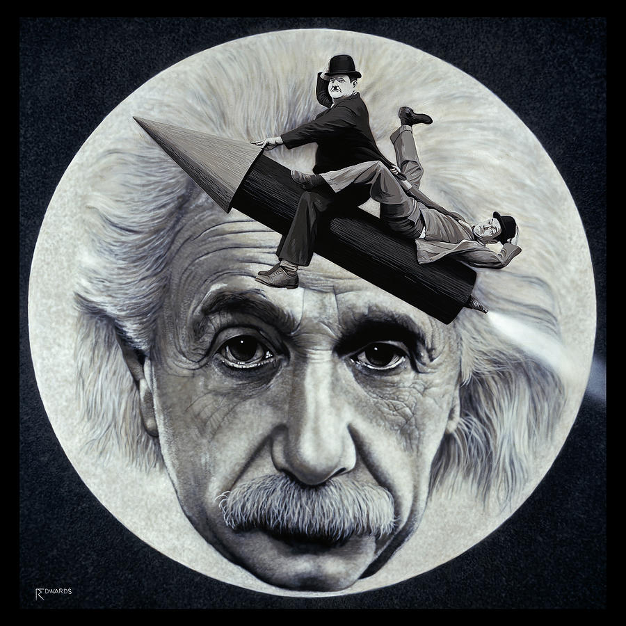 Einstein Painting - Scientific Comedy by Ross Edwards