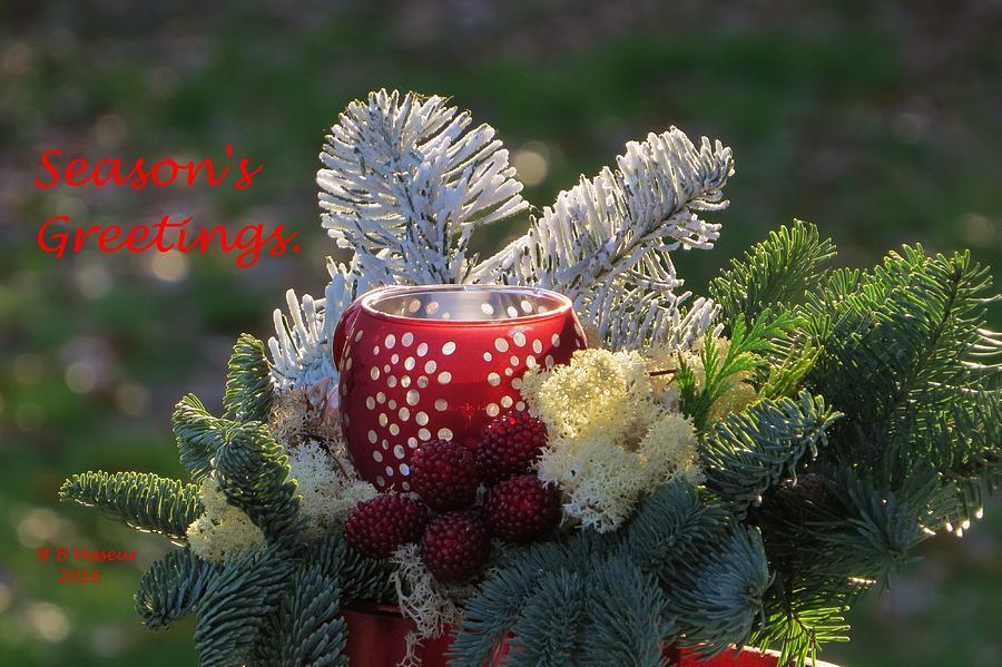 Season's Greetings Photograph - Seasons Greetings by B Vesseur