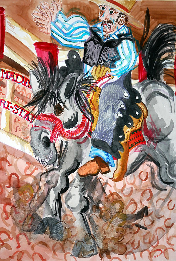 Horse Painting - 1 Second by Jame Hayes