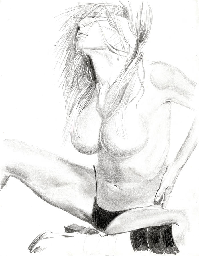 Nude Drawings Drawings Drawing - Shannon by Michael McKenzie