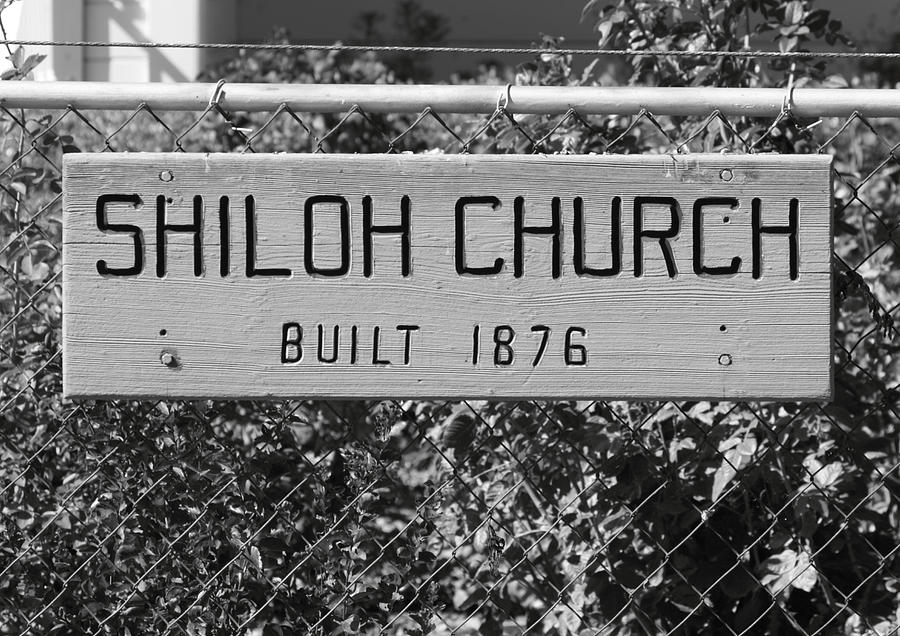 Antique Photograph - Shiloh Church Sign Birds Landing Ca by Troy Montemayor