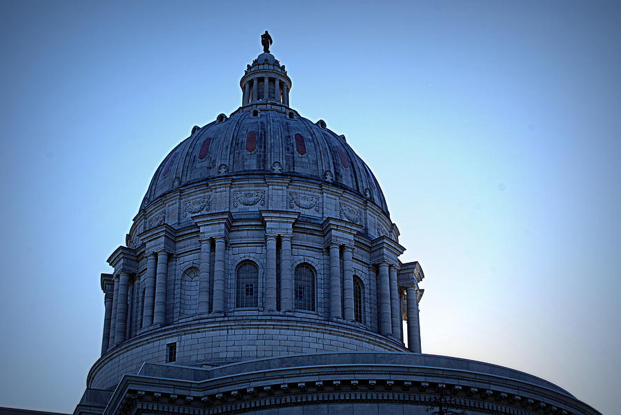Dome Photograph - Show-me State Capitol by Cricket Hackmann