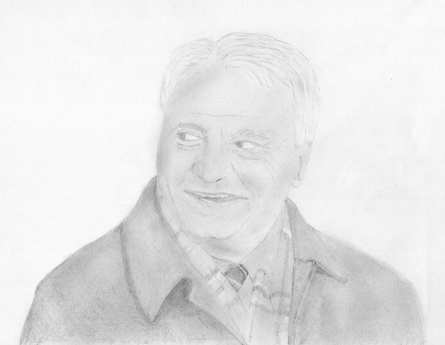 Bobby Robson Drawing - Sir Bobby Robson by Chris Hall