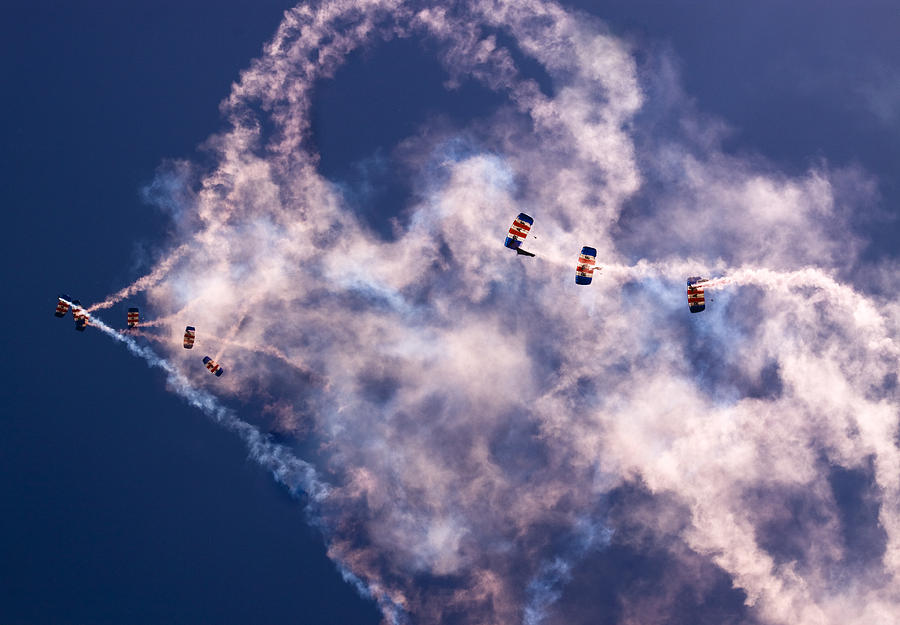 Raf Falcons Photograph - Sky Surfing by Angel  Tarantella