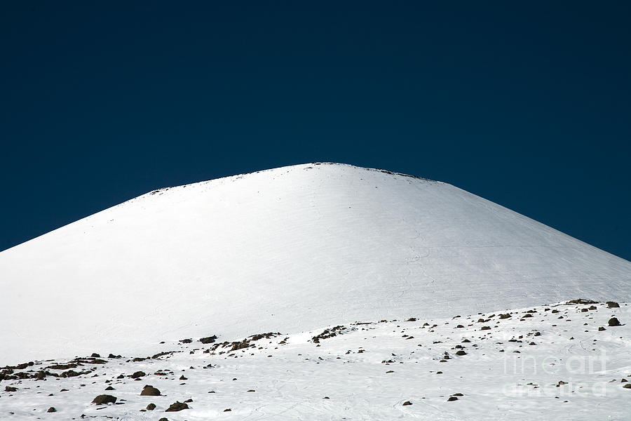 Above Photograph - Snowy Mauna Kea by Peter French - Printscapes