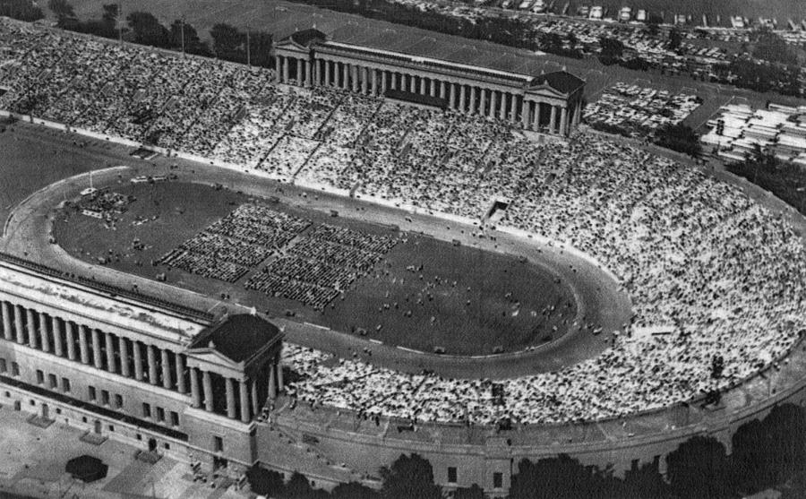 1950s Candids Photograph - Soldier Field, Chicago, Illinois, Circa by Everett