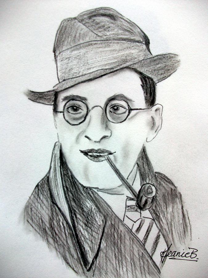 Stanley Holloway Drawing - Stanley Holloway by Jean Billsdon