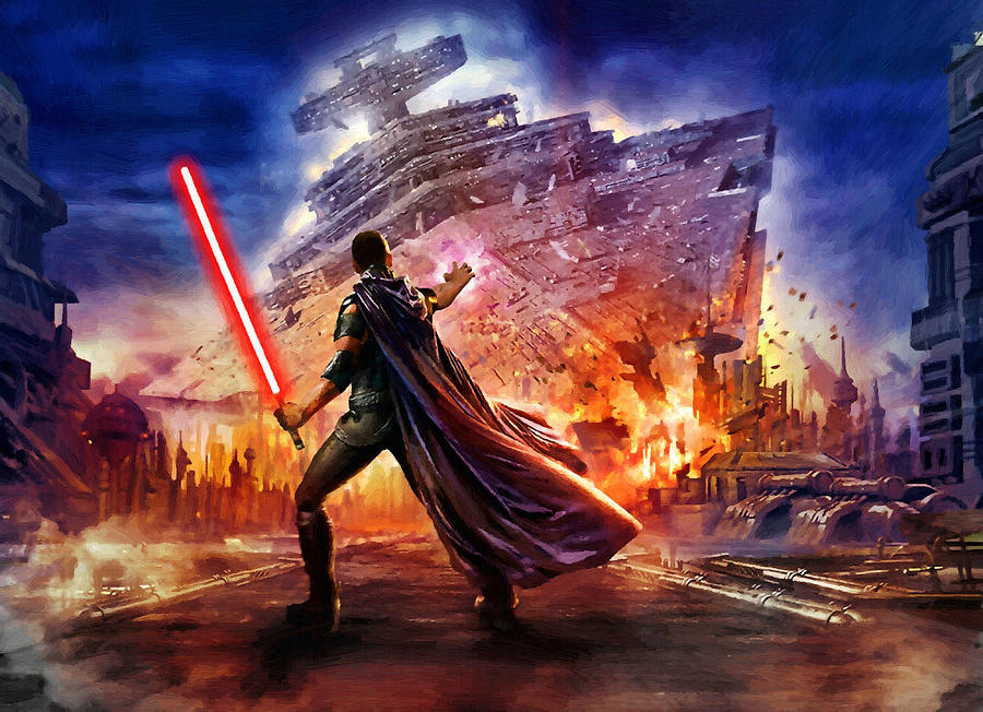 Star wars saga art is a piece of digital artwork by star wars which