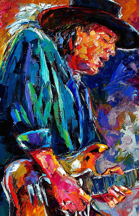 Stevie Ray Vaughan Painting - Stevie Ray Vaughan by Debra Hurd