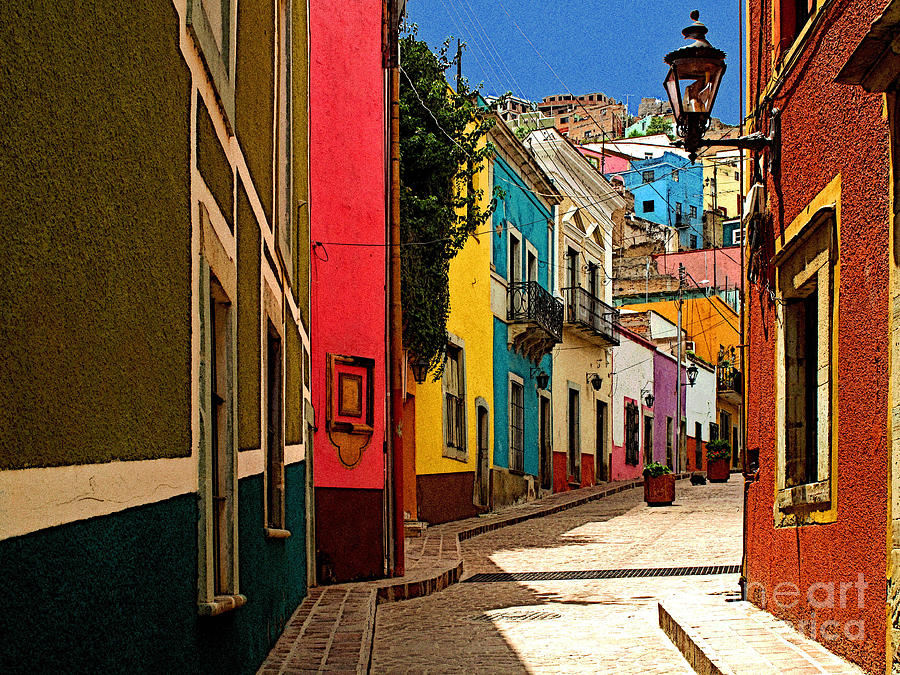 Darian Day Photograph - Street Of Color Guanajuato 2 by Mexicolors Art Photography