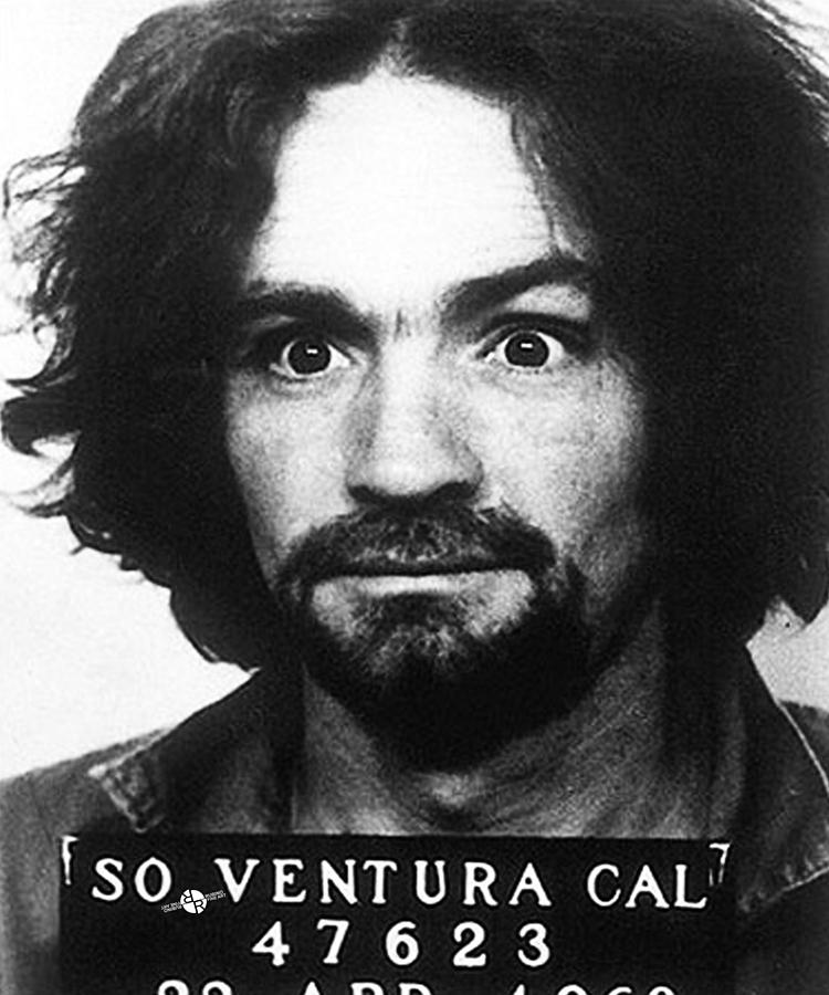 Charles Manson Mug Shot 1969 Vertical Photograph