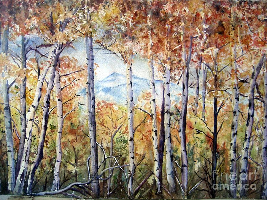 Tetons Painting - Tetons In Autumn by Patricia Pushaw