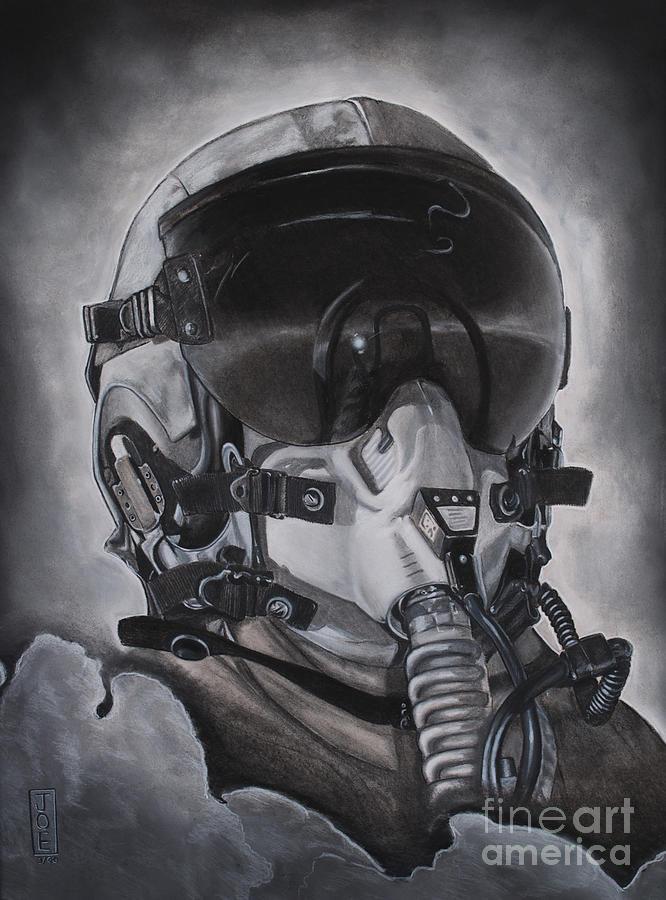 Pilot Drawing - The Aviator by Joe Dragt
