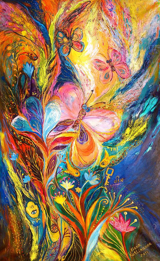 Original Painting - The Butterflies by Elena Kotliarker