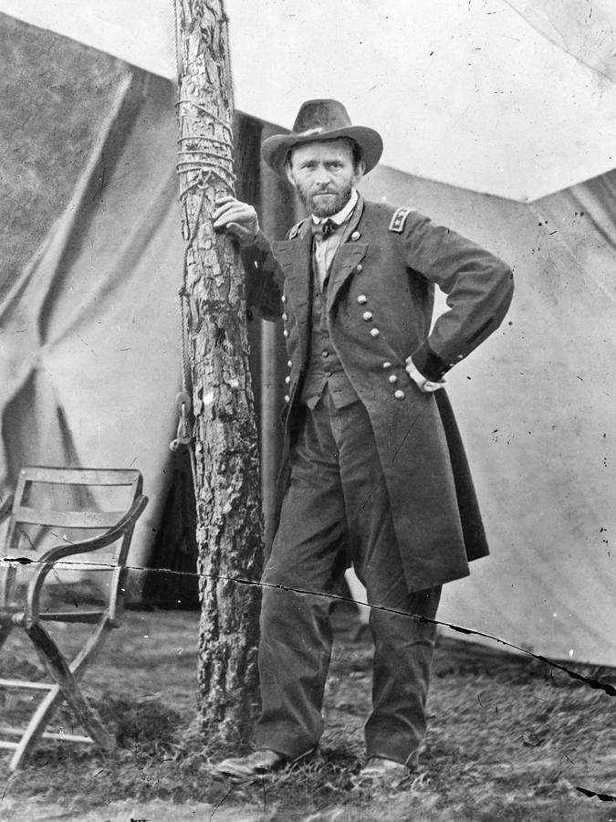 1860s Photograph - The Civil War. Ulysses S. Grant. 1864 by Everett